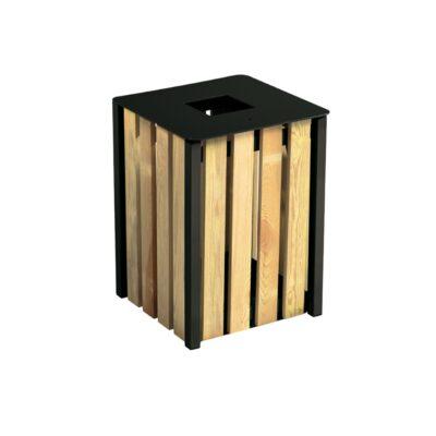 Κάδος απορριμμάτων, κάδος επιδαπεδιος, κάδος μικτής κατασκευής, κάδος ξύλινος, κάδος με επένδυση ξύλου