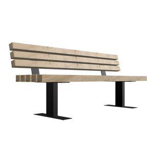 Παγκάκι με πλάτη για δήμους πλατείες κτλ σύμμικτης κατασκευής ξυλεία με μέταλλο